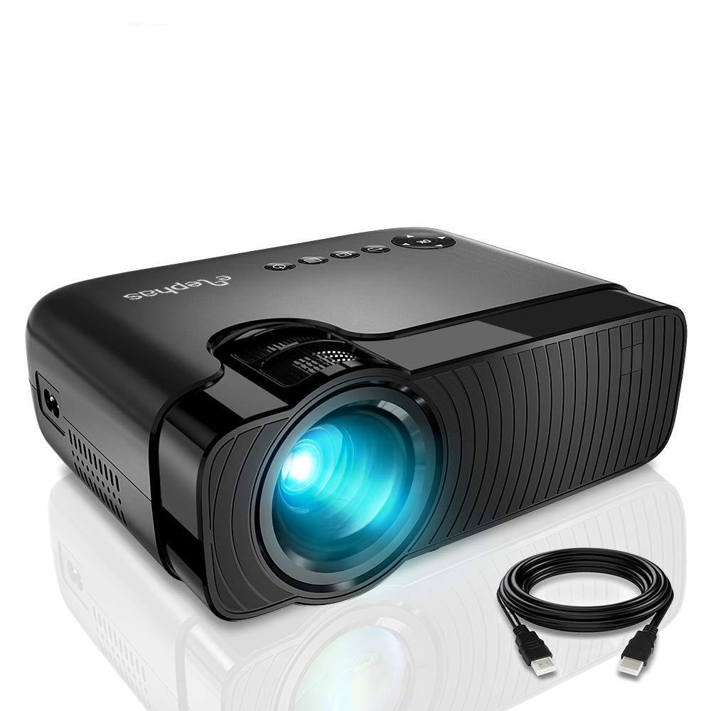 ELEPHAS GC333 1080P Home Video Portable Projector