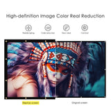 "100"" Projector Screen 16:9 PVC Fabric"