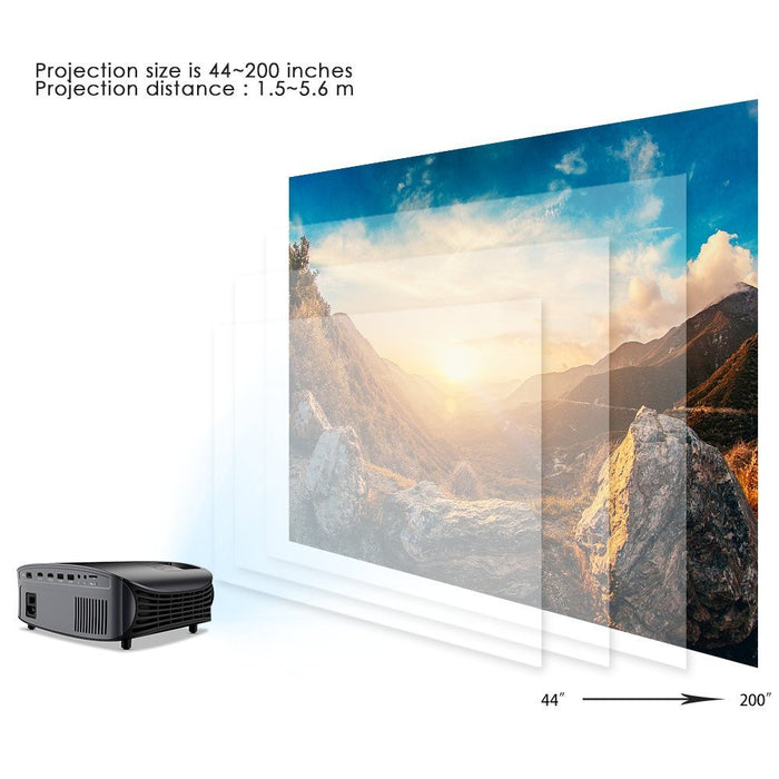 Goodee YG601 Updated LCD Home Theater Projector 1080P Projector