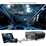 Updated LCD Home Theater Projector Support 1080P HDMI VGA AV USB MicroSD-YG600