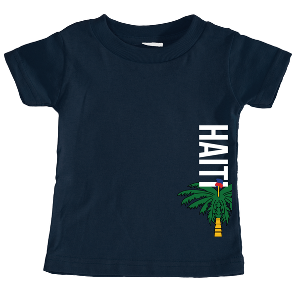 Haitian Kids and baby T-shirt with Haitian Flag design