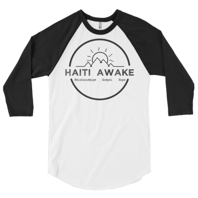 Haiti Awake Circle Baseball Tee - Haitian Clothing