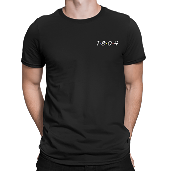 1804 Men's Black Cotton T-shirt - Haitian Clothing