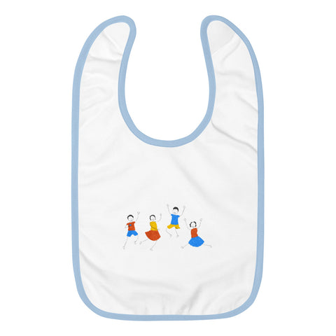 Embroidered Baby Bib - Haitian Clothing