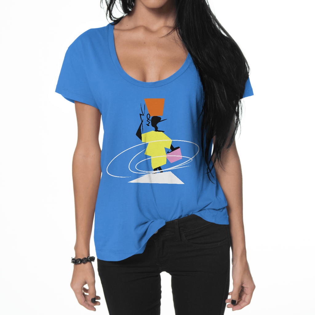 Scoop Neck Cotton T-shirt - Haitian Clothing