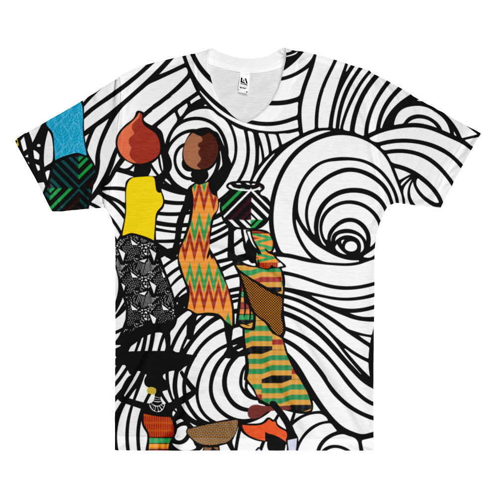 Men's V-Neck T-Shirt - Haitian Clothing