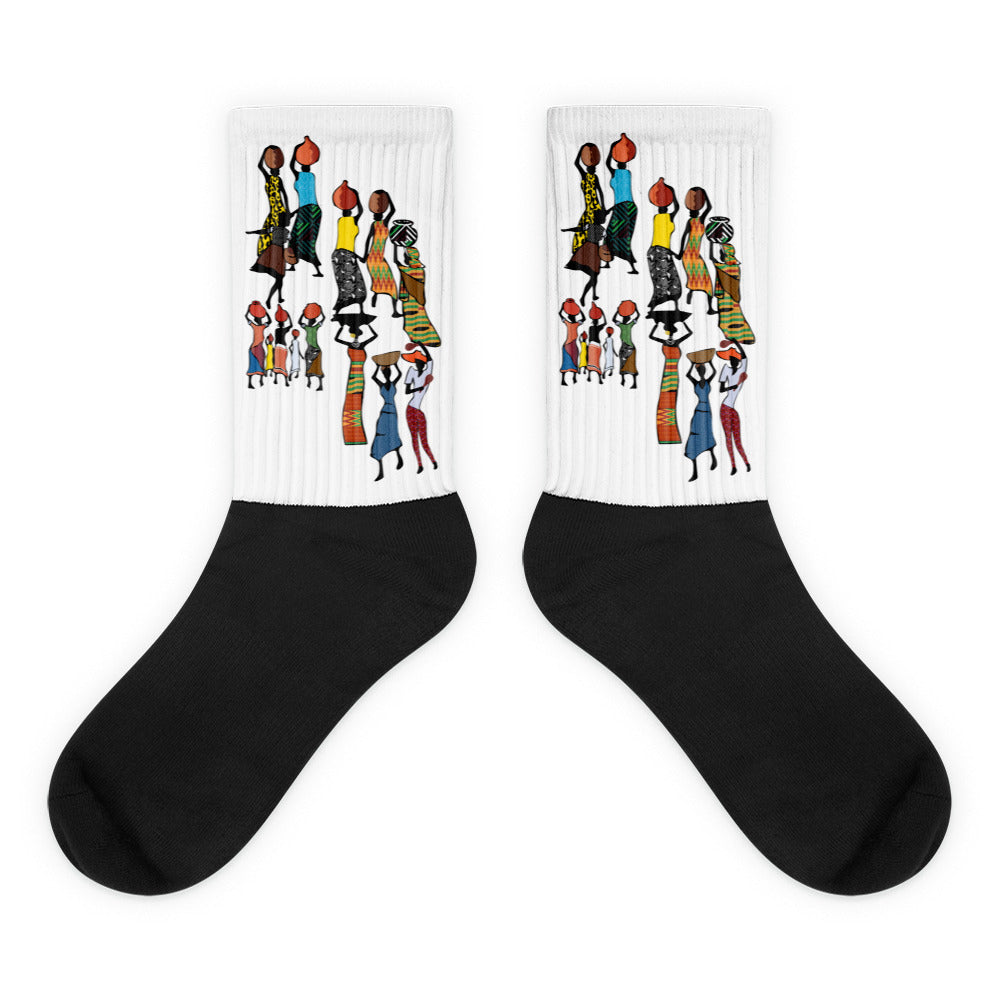 Socks with Haitian design