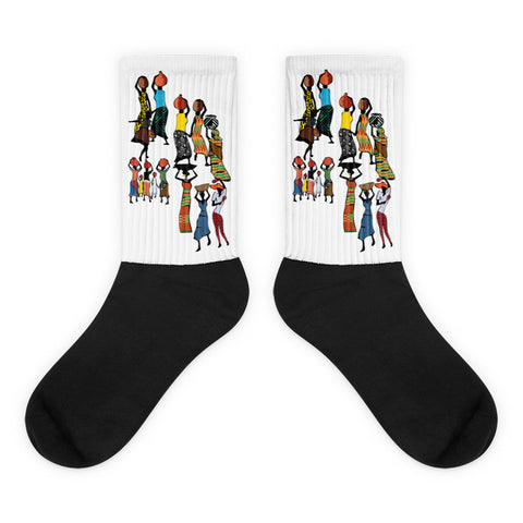 Black foot socks - Haitian Clothing
