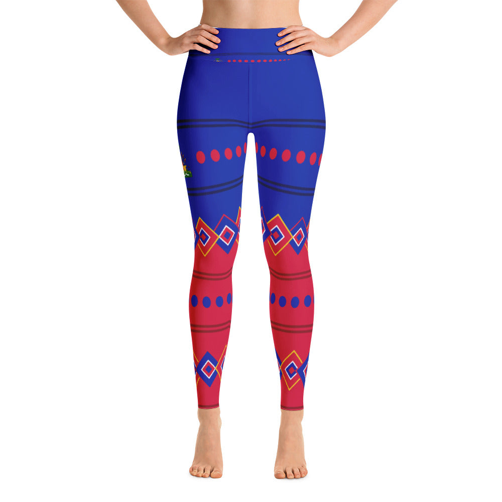 Leggins pants with Haitian Flag Design