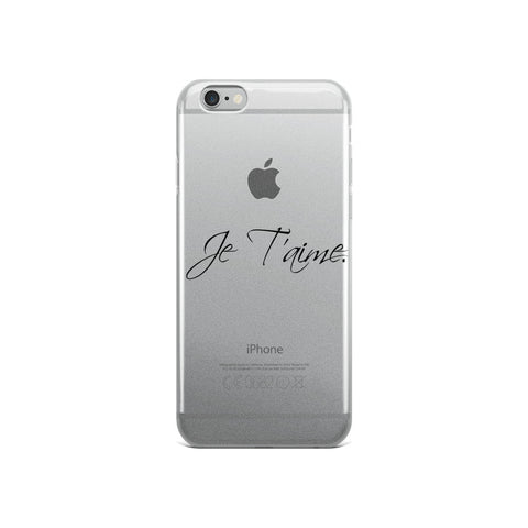 iPhone Case Je T'aime (Black) - Haitian Clothing