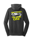 """FISH HARD! TIE ONE ON!"" Hoodie - Black Heather - SK-NEA510-BH"