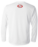 White Long Sleeve Moisture Wicking Shirt - CW26W