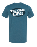 "Short Sleeve T-Shirt ""TIE ONE ON!"" - Heather Deep Teal - SK3001HDT"