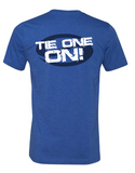 "Short Sleeve T-Shirt ""TIE ONE ON!"" - Heather True Royal - SK3001HTR"