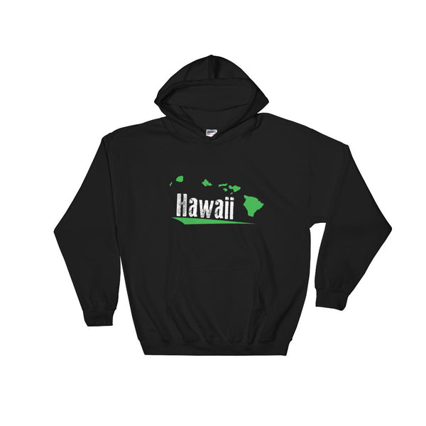 Black See Ya In Maui Hoodie Sweatshirt Hawaii with Green Hawaiian Islands