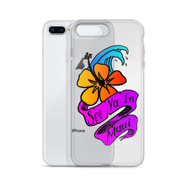 See ya in Maui Flower iPhone Case