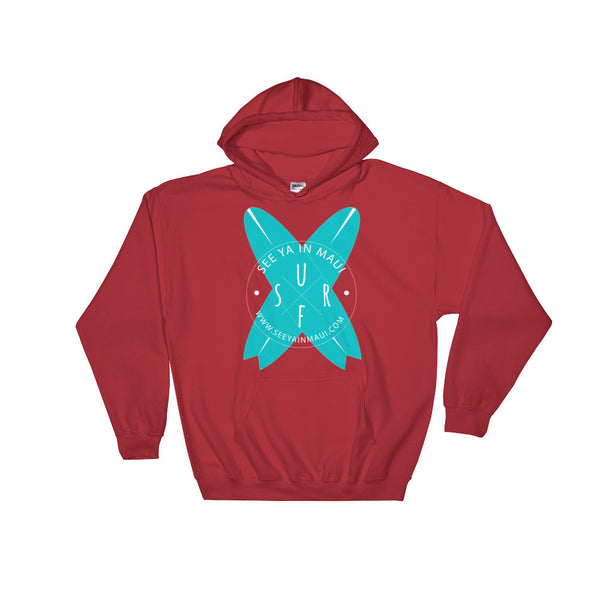 Red See Ya In Maui Hoodie Sweatshirt Surfboards