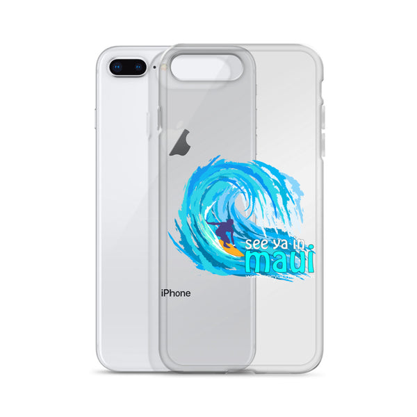 See ya in Maui Big Wave Surfer iPhone Case