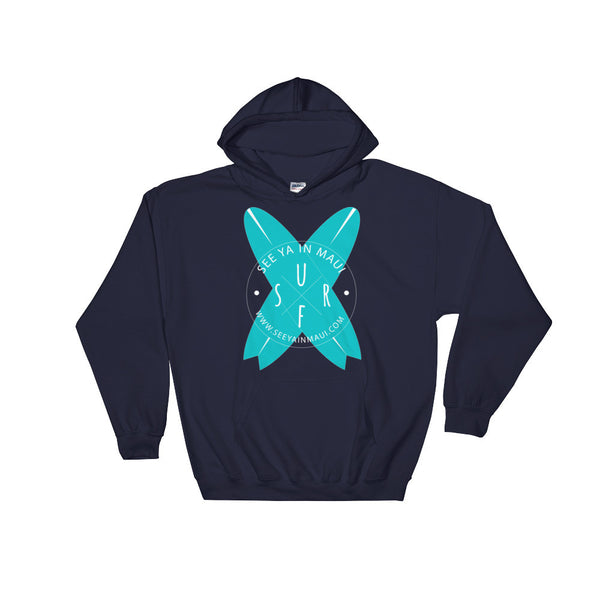 Navy Blue See Ya In Maui Hoodie Sweatshirt Surfboards