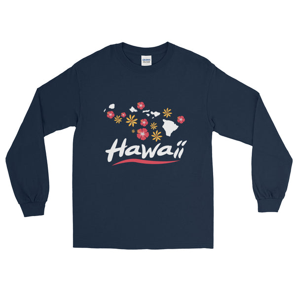 See ya in Maui Hawaiian Islands with Flowers Long Sleeve T-Shirt