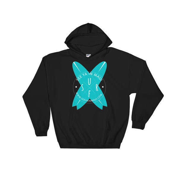Black See Ya In Maui Hoodie Sweatshirt Surfboards