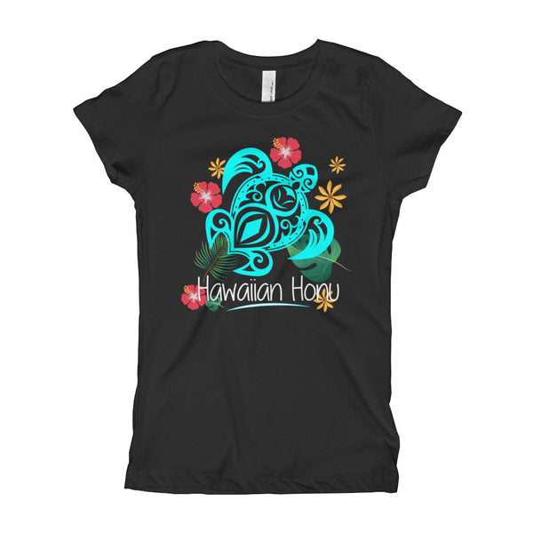 Black See Ya In Maui Girls T-Shirt Hawaiian Honu Turtle