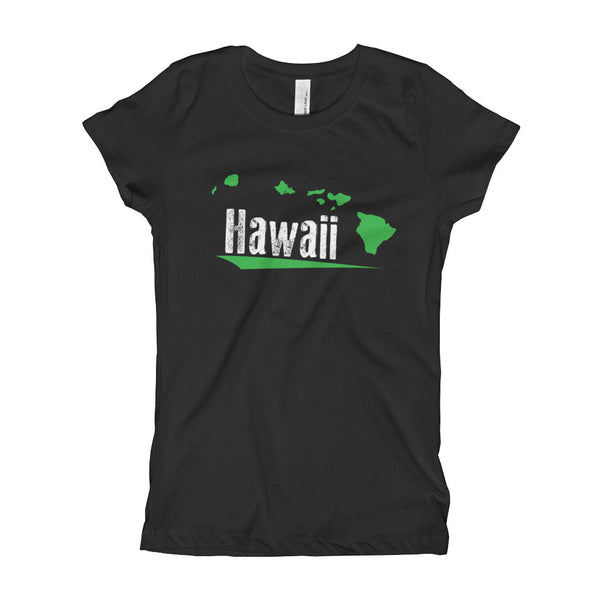Black See Ya In Maui Girls T-Shirt Green Hawaiian Islands