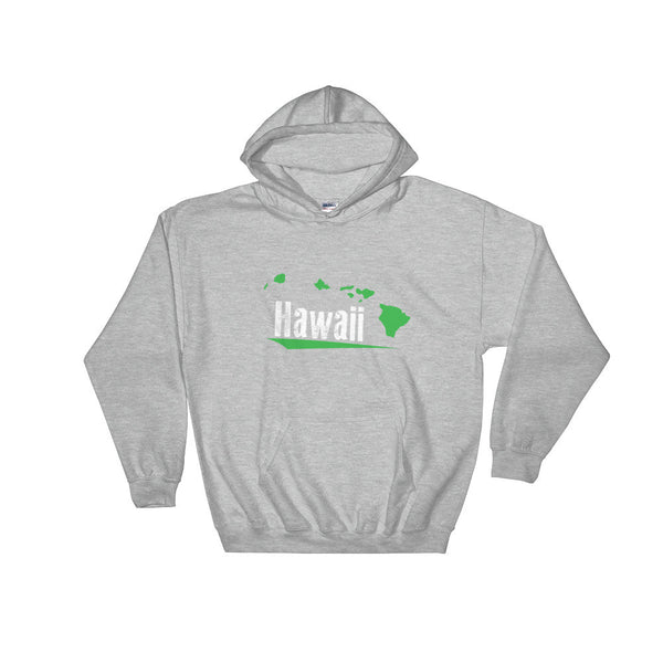 Sport Grey See Ya In Maui Hoodie Sweatshirt Hawaii with Green Hawaiian Islands