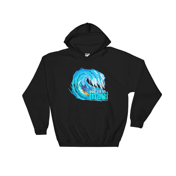 Black See Ya In Maui Hoodie Sweatshirt Big Wave