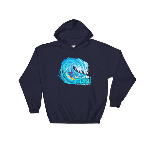 Navy Blue See Ya In Maui Hoodie Sweatshirt Big Wave
