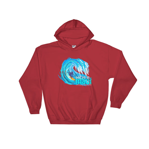 Red See Ya In Maui Hoodie Sweatshirt Big Wave