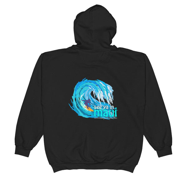 Zip Hoodie See Ya In Maui Big Wave Surfer - See Ya In Maui