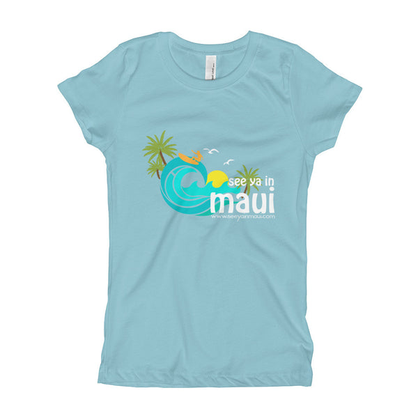 Cancun See Ya In Maui Girls T-Shirt Island Paradise