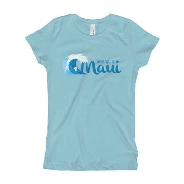 Cancun See Ya In Maui Girls T-Shirt with Wave