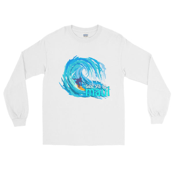 See ya in Maui Big Wave Long Sleeve T-Shirt