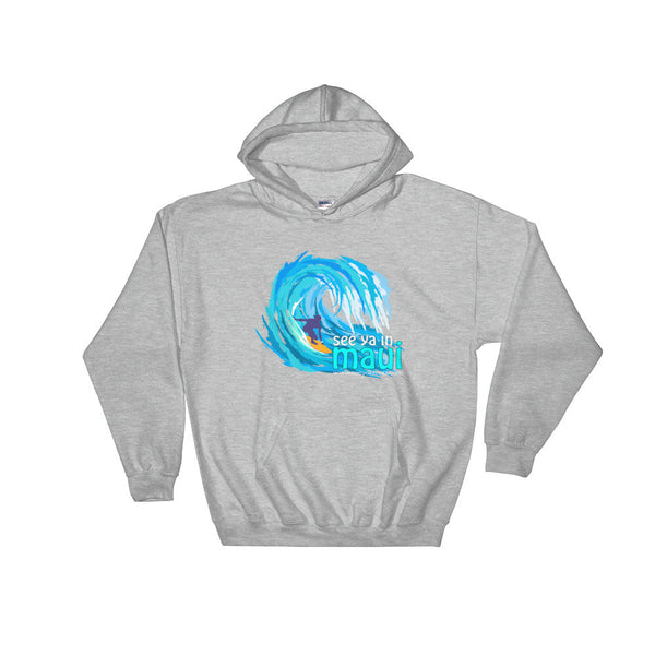 Sport Grey See Ya In Maui Hoodie Sweatshirt Big Wave
