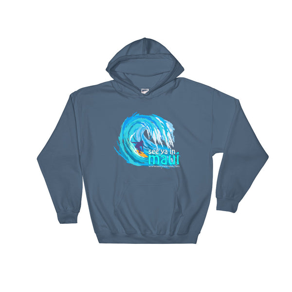 Indigo Blue See Ya In Maui Hoodie Sweatshirt Big Wave