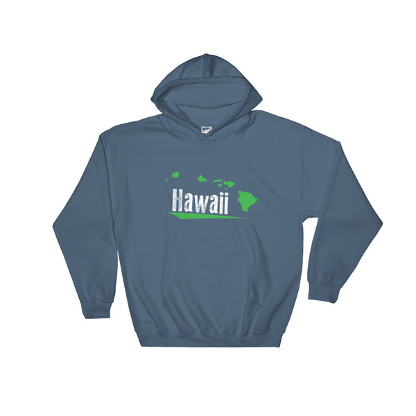 Indigo Blue See Ya In Maui Hoodie Sweatshirt Hawaii with Green Hawaiian Islands