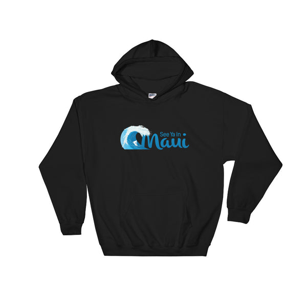 Black See Ya In Maui Hoodie Sweatshirt Wave