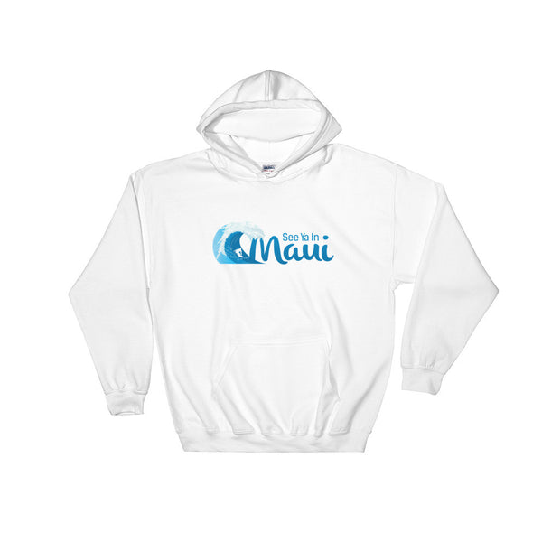 White See Ya In Maui Hoodie Sweatshirt Wave