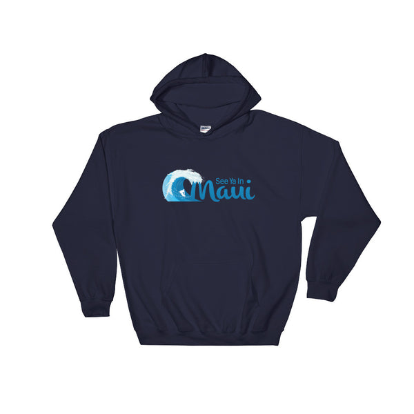 Navy See Ya In Maui Hoodie Sweatshirt Wave