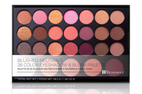 BH Cosmetics Blushed Neutrals – 26 Color Eyeshadow and Blush Palette