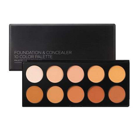 BH Cosmetics Foundation & Concealer - 10 Color Palette