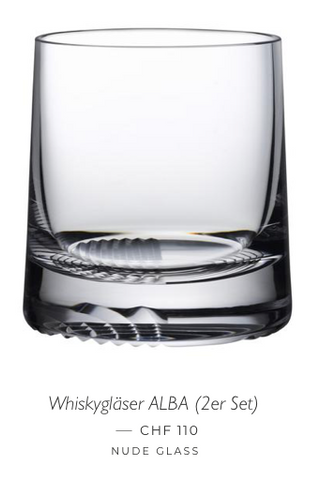 Alba Whiskyglas von Nude Glass