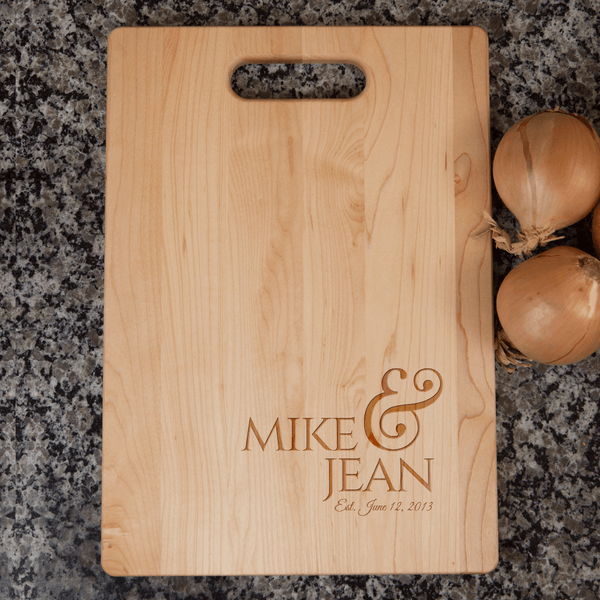 anniversary cutting board | wedding cutting board
