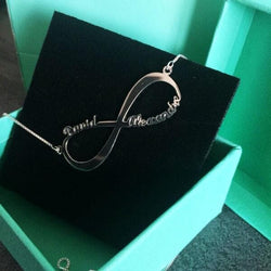 Infinity Two Name Necklace | Infinity Name necklace