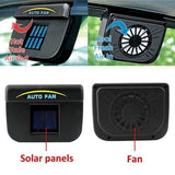 Solar Powered Car Auto Cooling Fan System