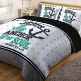 Bible Verse Bedding | Scripture Bedding | Hebrews 6:19 Comforter