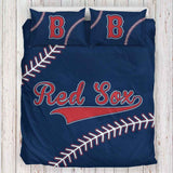 Boston Baseball Bedding Set- Design 1