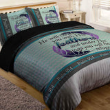 Bible Verse Bedding | Scripture Bedding | Psalm 91:4 Comforter